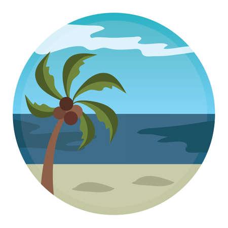 seashores: beach landscape Illustration