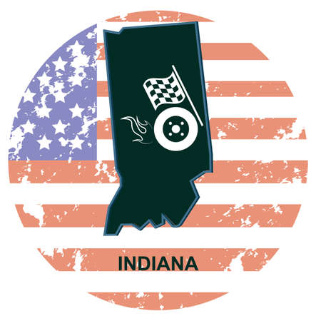 indiana: indiana state Illustration