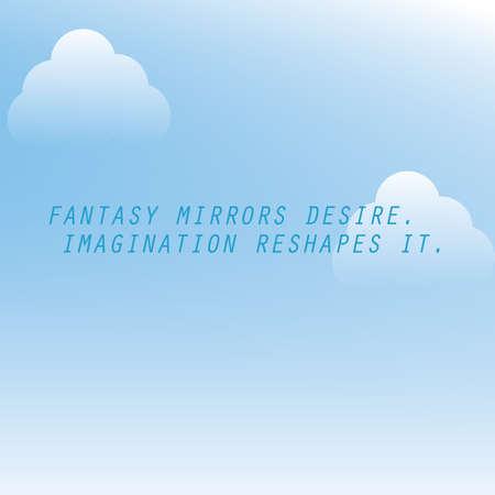 philosophic: inspirational quote Illustration