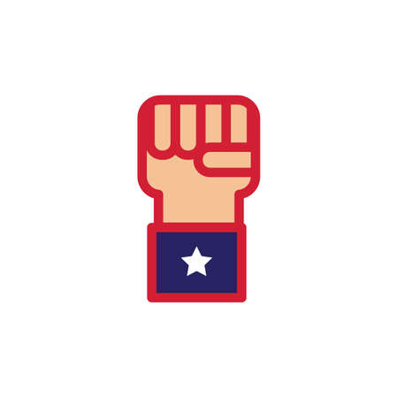 president of the usa: fist with star