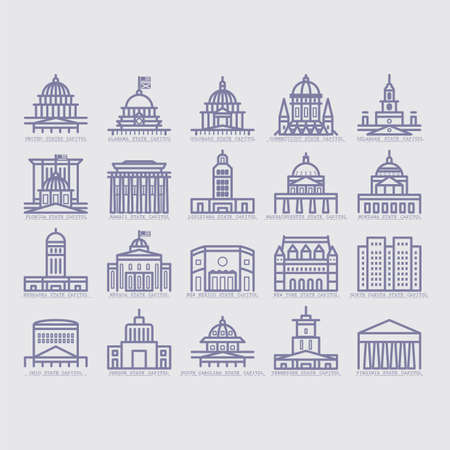 capital building: collection of usa buildings Illustration
