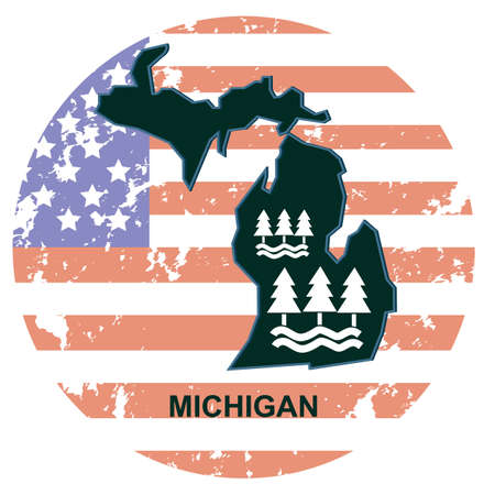 michigan: michigan state Illustration
