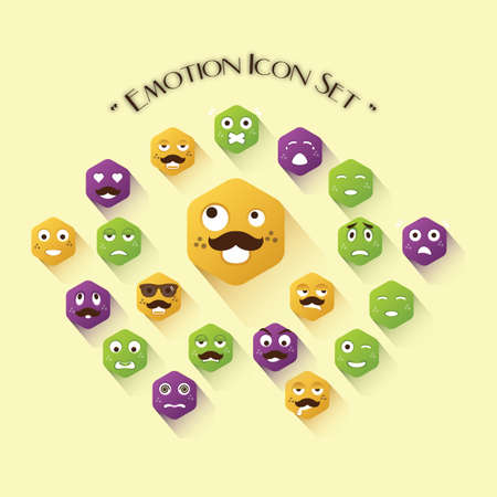 awkward: emotion icon set
