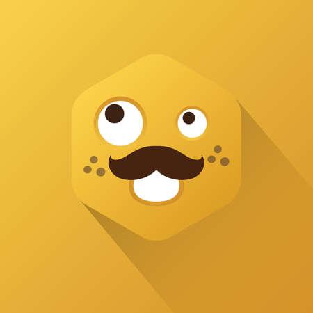 scheming: emoticon with scheming expression Illustration