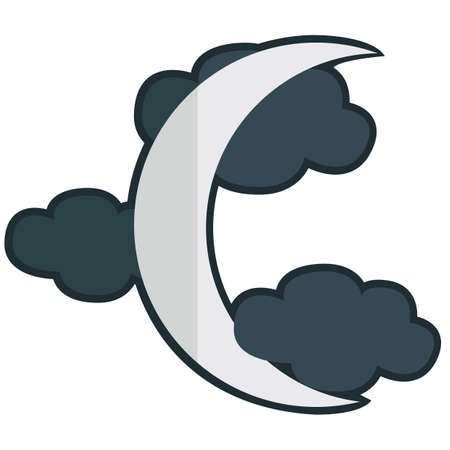 crescent: crescent moon and clouds