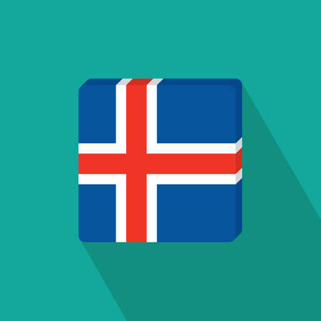 flag: iceland flag Illustration