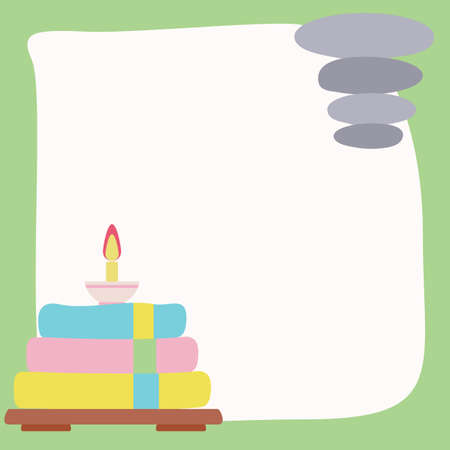 towel: towel with candle Illustration