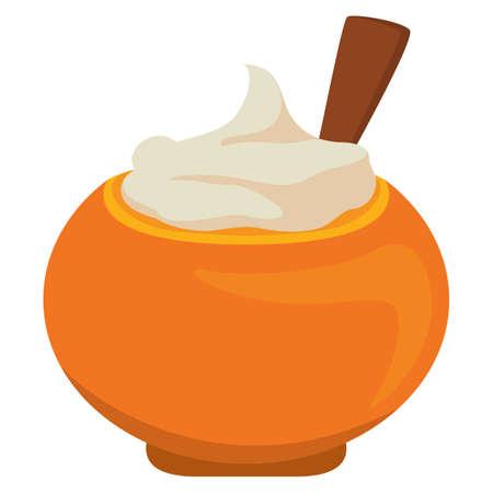 potatoes: mashed potatoes Illustration