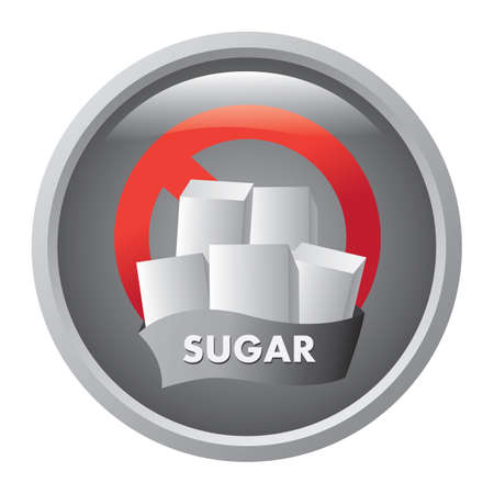 sugar cube: no sugar sign
