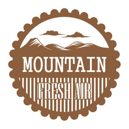 fresh air: mountain fresh air label