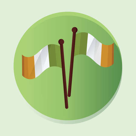 ireland: ireland flags Illustration