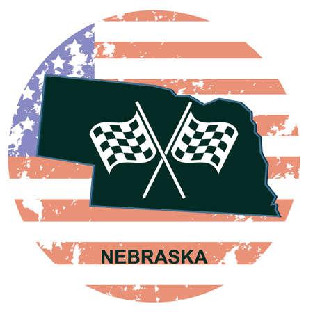 checker flag: nebraska state