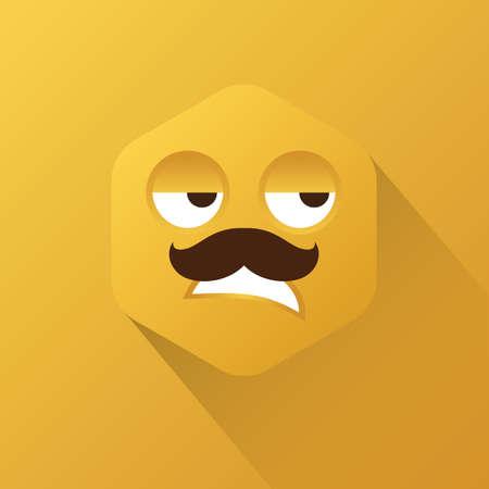 grumpy: grumpy emoticon Illustration