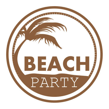 beach party: beach party label