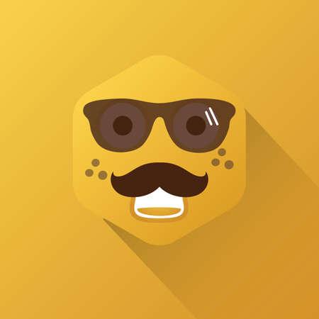 wearing: emoticon wearing sunglasses Illustration