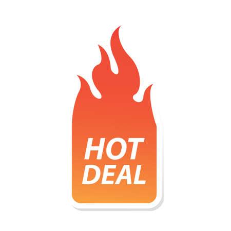 hot deal: hot deal label
