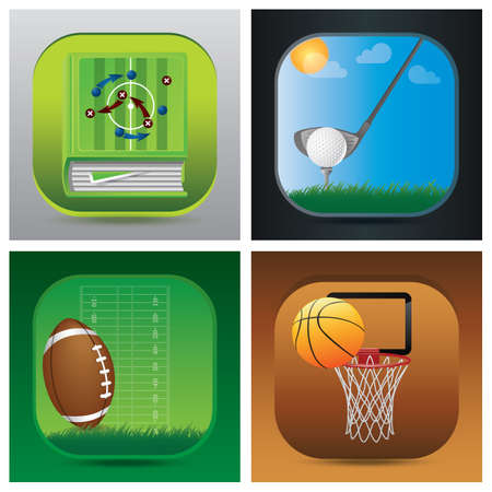 grasslands: collection of sports related icons