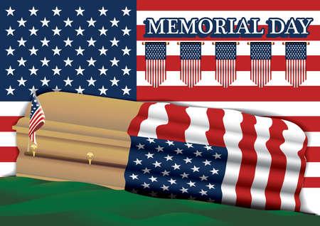 memorial day Vetores
