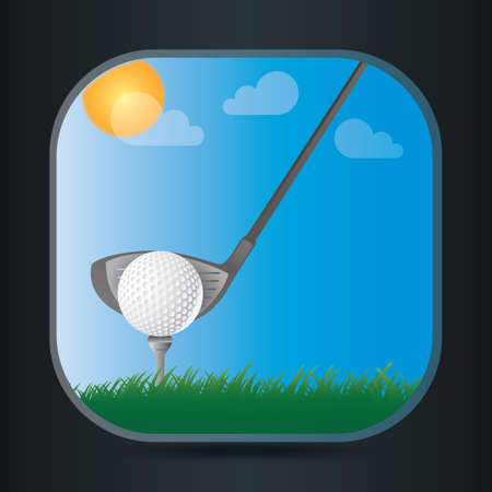 pastures: golf Illustration