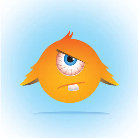 eyed: angry one eyed monster Illustration