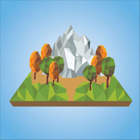 faceted: faceted mountain