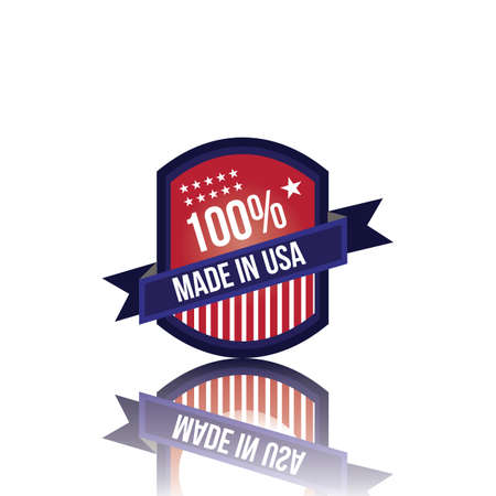 cocain: made in usa label Illustration