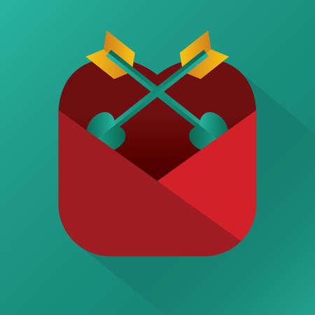 heart shaped: heart shaped arrows in an envelope Illustration