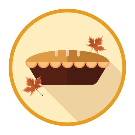 maple leaves: pie with maple leaves Illustration