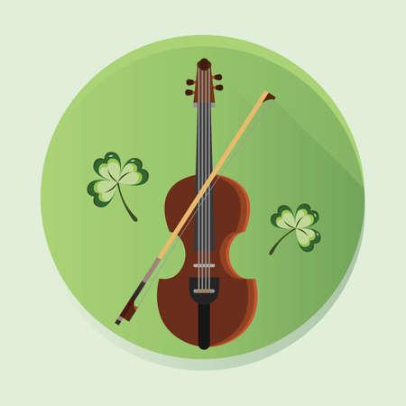 fiddle: violin and fiddle stick