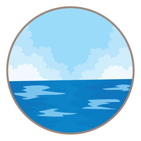 scenics: scenic view of the sea Illustration