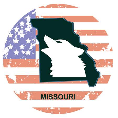 missouri wildlife: missouri state Illustration