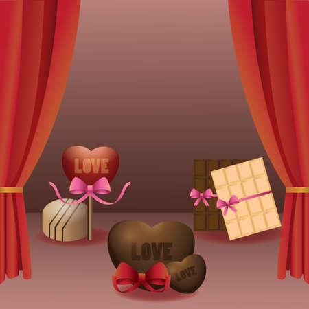 treat: valentine chocolates treat Illustration