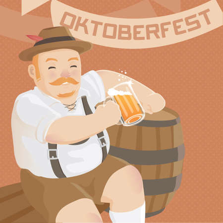 hombre tomando cerveza: hombre que beb�a cerveza  Vectores