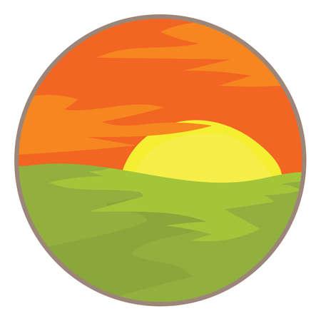 scenics: sunset or sunrise
