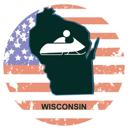 wisconsin: wisconsin state Illustration