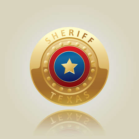 sheriff texas badge Stock Vector - 53364671