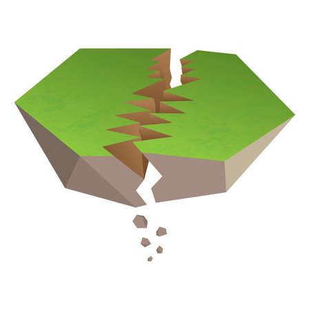 earthquake crack: earthquake