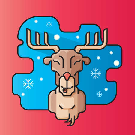 rein: reindeer head