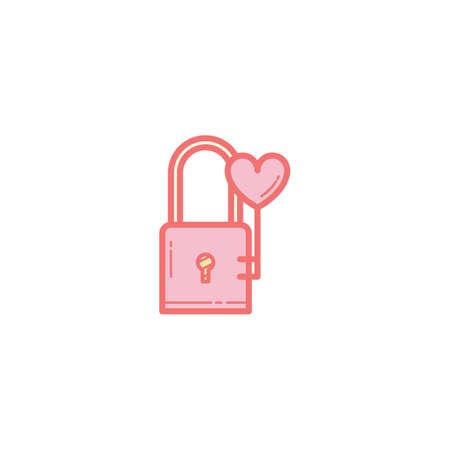 lock and key: lock and heart key