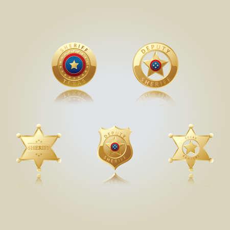 Sammlung von Sheriff-Stern-Abzeichen