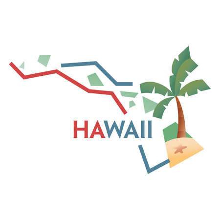 coastlines: hawaii state map