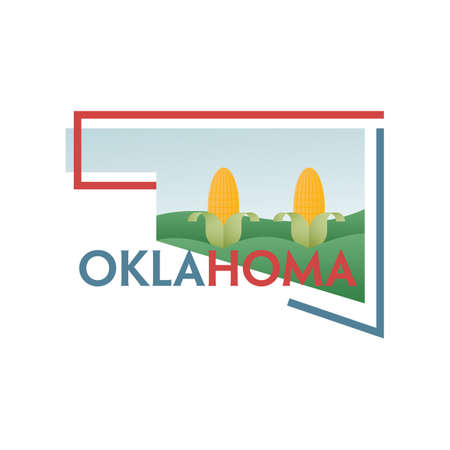 cornfield: oklahoma state map