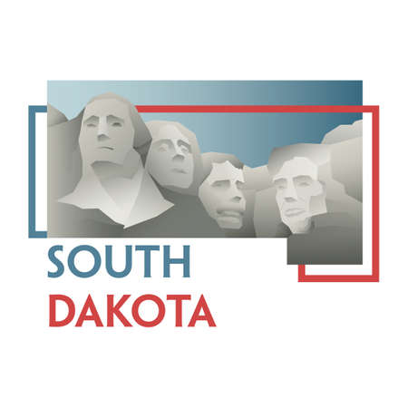 south dakota: south dakota state map