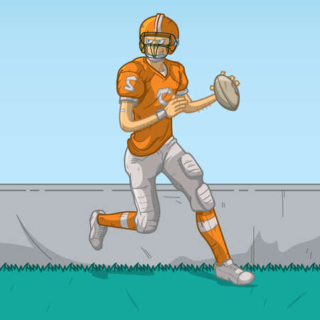sports jersey: american football player in action