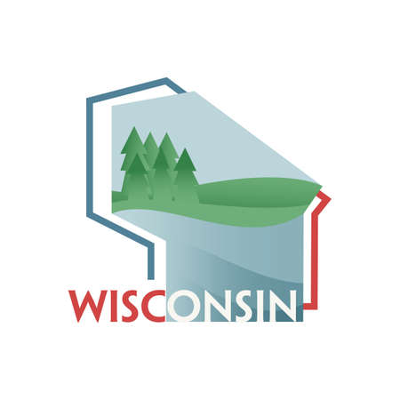 wisconsin: wisconsin state map