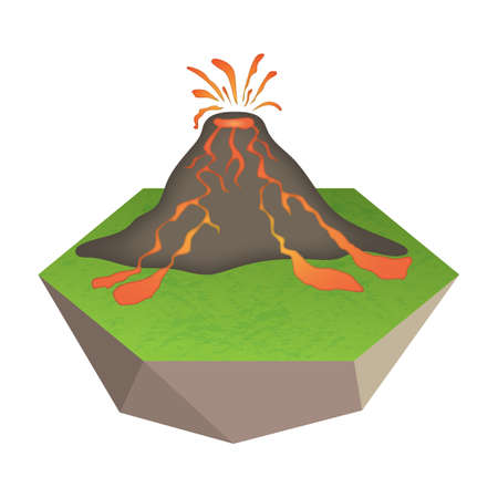 volcanic: volcanic eruption Illustration