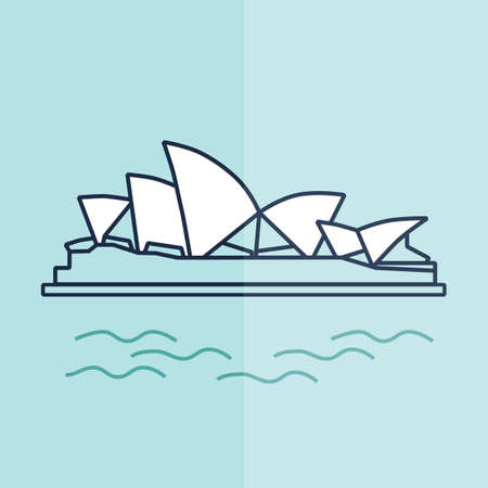 opera: opera house Illustration