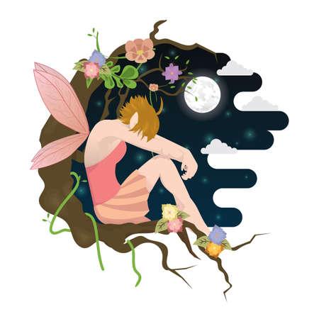 moon angels: fairy girl Illustration
