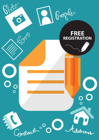 contacting: free registration icon