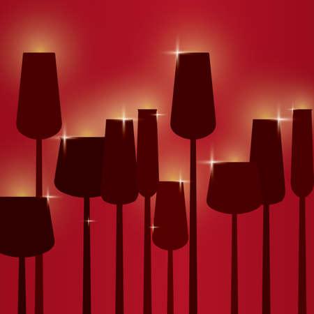 wineglasses: wineglasses Illustration